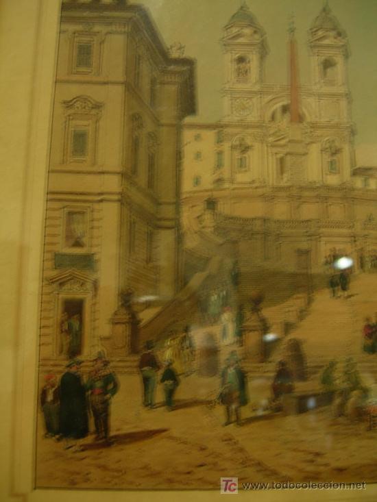 Arte: GRABADO CON MARCO DORADO ORIGINAL. ETATS ROMAINS - Foto 7 - 26902898