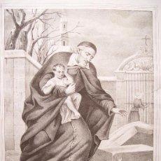 Arte: 'SAN VICENTE DE PAUL' POR ANTONIO PASCUAL ABAD (ALCOY 1809-VALENCIA 1882). Lote 23238204