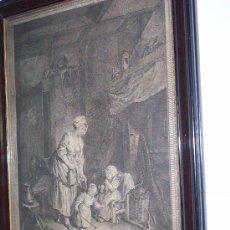 Arte: GRABADO DEL SIGLO XVIII.LA COMPLAISANCE MATERNELLE.NICOLAS DE LAUNAY, FREUDEBERG. Lote 26654787