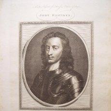 Arte: ' JOHN HAMPDEN' GRABADO POR GOLDAR (OXFORD 1729-MADRID1795). Lote 24537201