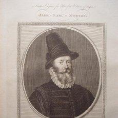 Arte: 'JAMES EARL OF MORTON' GRABADO POR GOLDAR (OXFORD,1729-LONDRES,1795). Lote 24537202