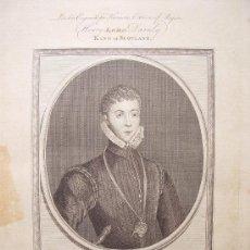 Arte: 'HENRY LORD DAMLY KING OF SCOTLAND' GRABÓ GOLDAR (OXFORD 1728-LONDRES1795)SEGUN OBRA DE LUCAS HEERE. Lote 24537203