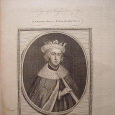 Arte: 'EDWARD V KING OF ENGLAND FRANCE' GRABADO POR JOHN GOLDAR (OXFORD,1729-LONDRES,1795). Lote 24537205