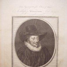 Arte: 'ARCHBISHOP WILLIAM LORD KEEPER' GRABADO POR JOHN GOLDAR (OXFORD,1729-LONDRES,1795). Lote 24537206