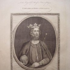 Arte: 'EDWARD II, KING OF ENGLAND'. GRABADO POR JOHN GOLDAR (OXFORD,1729-LONDRES,1795). Lote 24563712