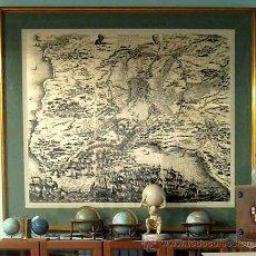 Arte: 1850 - SIEGE DE LA ROCHELLE -ENORME GRABADO 1'2 METROS-RUPELLAE OBSIDIO SITIO DE LA ROCHELLE-CALLOT. Lote 18617279