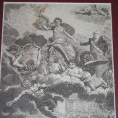 Arte: GRABADO XIX LUIS XVIII RESTABLECIENDO LA PAZ EN FRANCIA.. Lote 26897330