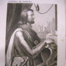 Arte: JUAN I. REY DE CASTILLA Y LEÓN. RETRATO. GRABADO.S.XIX.. Lote 14927752