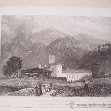 Arte: ITALIA. 'CONVENT OF THE VALLANDROSA' DIBUJÓ JAMES DUFFIELD HARDINGS (1798-1863). GRABÓ J. HENSHAL. Lote 27193583