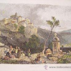 Arte: ITALIA. 'GENSANO' DIBUJÓ JAMES DUFFIELD HARDINGS (1798-1863). GRABÓ JOHN SMITH.. Lote 27193585