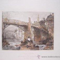 Arte: SUIZA. 'LAUFFENBURG ON THE RIHN'. GRABÓ A.LE PETTIT (HACIA 1837-1841) SEGÚN OBRA DE G. BALMES. Lote 27231531