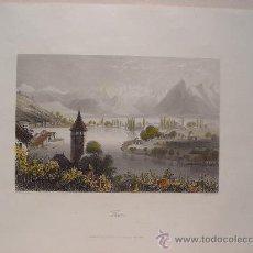 Arte: SUIZA. 'THUN' GRABÓ ALBERT HENRY PAYNE (1812-1902) SEGÚN OBRA DE H. BIBBY.. Lote 27231532