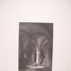 Arte: SUIZA. 'THE DUNGEON OF CHILLON' DIBUJÓ G. C. STANFIELD (1828-1876).GRABÓ EDWARD F.FINDEN (1791-1857). Lote 27231533