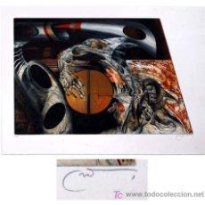 Arte: JOAN CRUSPINERA / COMPOSICIÓN SURREALISTA -3. AGUAFUERTE FIRMADO A MANO, NUMERADO. Lote 20237887