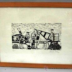 Arte: GRABADO DANIEL ZARZA 1961 19/33 I ALBAÑILES TRABAJANDO EN LA CALLE. Lote 47608328