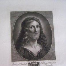Arte: GRABADO SIGLO XVIII - C. 1795 - GALERÍA REAL DE DRESDE - LA TÊTE DU SAUVEUR - ENVÍO GRATIS. Lote 15492281