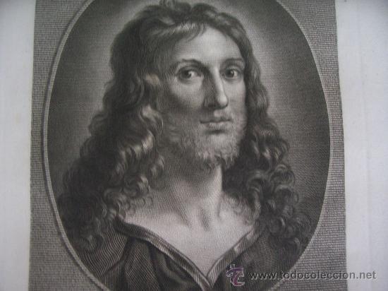 Arte: GRABADO SIGLO XVIII - C. 1795 - GALERÍA REAL DE DRESDE - LA TÊTE DU SAUVEUR - ENVÍO GRATIS - Foto 2 - 15492281