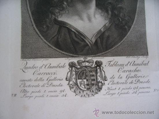 Arte: GRABADO SIGLO XVIII - C. 1795 - GALERÍA REAL DE DRESDE - LA TÊTE DU SAUVEUR - ENVÍO GRATIS - Foto 3 - 15492281