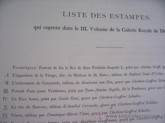 Arte: GRABADO SIGLO XVIII - C. 1795 - GALERÍA REAL DE DRESDE - LA TÊTE DU SAUVEUR - ENVÍO GRATIS - Foto 5 - 15492281