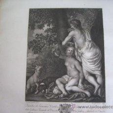 Arte: GRABADO SIGLO XVIII - C. 1795 - GALERÍA REAL DE DRESDE - PÂRIS ET OENONE - ENVÍO GRATIS. Lote 15492332