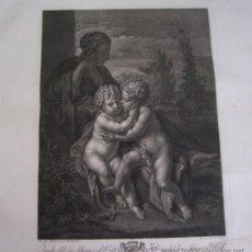 Arte: GRABADO SIGLO XVIII - C. 1795 - GALERÍA REAL DE DRESDE - LA STE. VIERGE - ENVÍO GRATIS. Lote 15492354