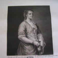 Arte: GRABADO SIGLO XVIII - C. 1795 - GALERÍA REAL DE DRESDE - PORTRAIT D'UNE JEUNE FILLE - ENVÍO GRATIS. Lote 15508134