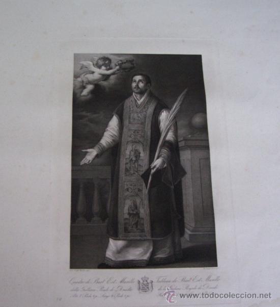 GRABADO SIGLO XVIII - C. 1795 - GAL. REAL DE DRESDE - ST. RODRÍGUEZ RECEVANT LA COURONNE DU MARTYRE (Arte - Grabados - Antiguos hasta el siglo XVIII)