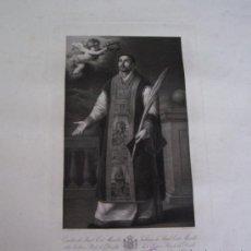 Arte: GRABADO SIGLO XVIII - C. 1795 - GAL. REAL DE DRESDE - ST. RODRÍGUEZ RECEVANT LA COURONNE DU MARTYRE. Lote 15508177