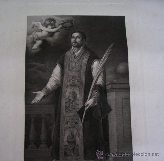 Arte: GRABADO SIGLO XVIII - C. 1795 - GAL. REAL DE DRESDE - ST. RODRÍGUEZ RECEVANT LA COURONNE DU MARTYRE - Foto 2 - 15508177