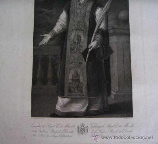 Arte: GRABADO SIGLO XVIII - C. 1795 - GAL. REAL DE DRESDE - ST. RODRÍGUEZ RECEVANT LA COURONNE DU MARTYRE - Foto 3 - 15508177