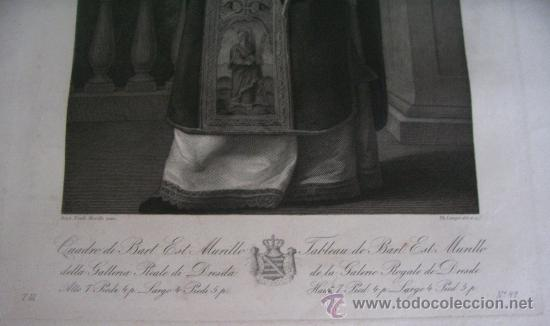 Arte: GRABADO SIGLO XVIII - C. 1795 - GAL. REAL DE DRESDE - ST. RODRÍGUEZ RECEVANT LA COURONNE DU MARTYRE - Foto 4 - 15508177