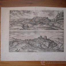 Arte: GRABADO DE LEBRIJA, SEVILLA, SETENIL DE LAS BODEGAS, CÁDIZ, 1580, BRAUN Y HOGENBERG, GRAN TAMAÑO. Lote 27392935