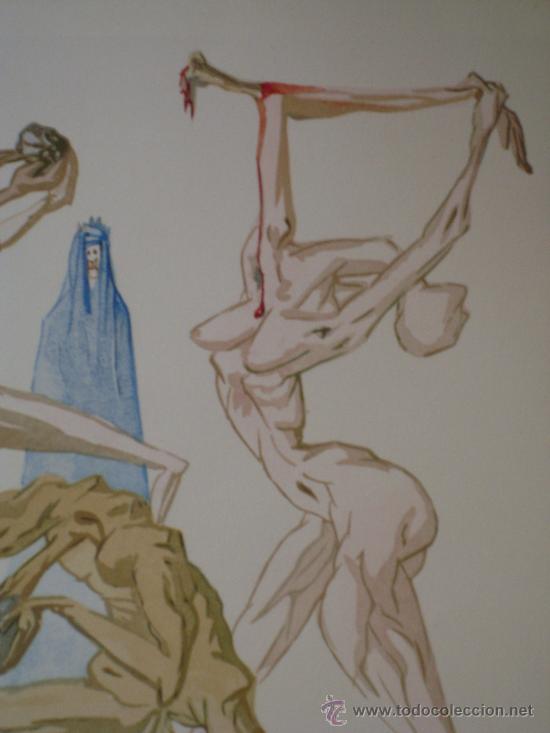 """Arte: Xilografía original perteneciente a """"La Divina Comedia"""" Les Habitants de Prato - Foto 2 - 26824354"""