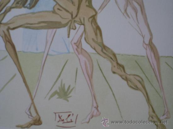 """Arte: Xilografía original perteneciente a """"La Divina Comedia"""" Les Habitants de Prato - Foto 3 - 26824354"""