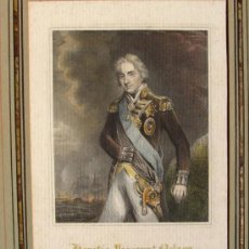 Arte: ALMIRANTE NELSON, GRABADO DE 1833. Lote 26571979