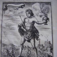 Arte: GRABADO DEL COLOSO DE RODAS, ORIGINAL, 1683, MALLET, ESPLÉNDIDO ESTADO. Lote 26602256