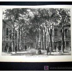 Arte: GRABADO MARYLEBONE GARDENS - ORIGINAL S. XIX -. Lote 27367877