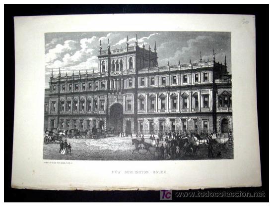 NEW BURLINGTON HOUSE - ORIGINAL XIX - (Arte - Grabados - Modernos siglo XIX)