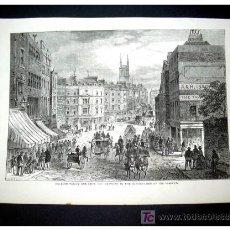 Arte: GRABADO HOLBORN VALLEY - ORIGINAL S. XIX -. Lote 27388180