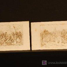 Arte: DOS GRABADOS. DESPEDIDA DE FONTAINEBLEAU Y VUELTA DE NAPOLEON DE LA ISLA DE ELBA. Lote 25007364