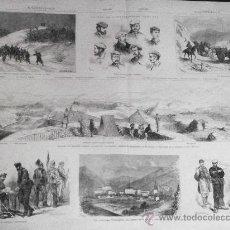 Arte: GRABADO: FIN DE LA GUERRA CARLISTA. GUIPUZCOA, MONTE BURUNZA, HERNANI. TOLOSA..1876. Lote 17568878