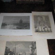 Arte: SEVILLA: LOTE DE 3 MAGNÍFICOS GRABADOS AL ACERO DEL SIGLO XIX. Lote 17881021