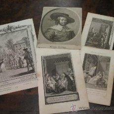 Kunst - LOTE DE 5 BELLOS GRABADOS AL COBRE DE S.XVII-XVIII - 17888748