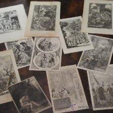 Kunst - MAGNÍFICO LOTE DE 11 GRABADOS AL COBRE DE DIFERENTE TEMÁTICA, S. XVIII - 17889040
