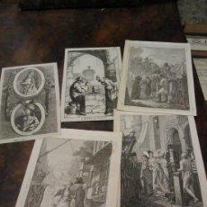 Kunst - LOTE DE 5 BELLOS GRABADOS AL COBRE DEL S. XVIII - 17889776