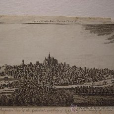 Arte: 'PERSPECTIVE VIEW OF THE CATEDRAL AND CITY OF EXETER IN THE COUNTY OF DEVON' REALIZADO EN 1794. Lote 23456836