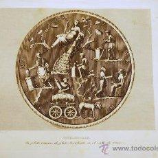 Arte: PLATO ROMANO. DESCUBIERTO EN EL VALLE DE OTAÑEZ. GRABADO. 1852.. Lote 18165486