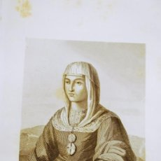Arte: JUANA LA LOCA. RETRATO. GRABADO. 1852.. Lote 18184805