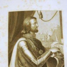 Arte: D. JUAN I . REY DE CASTILLA Y LEÓN. RETRATO.GRABADO. 1852.. Lote 18289517
