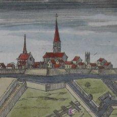 """Arte: GRABADO DE UN CAMPAMENTO MILITAR Y TRINCHERAS DEL LIBRO """"ARTE DE LA GUERRA"""" DE MALLET, 1684. Lote 12481895"""